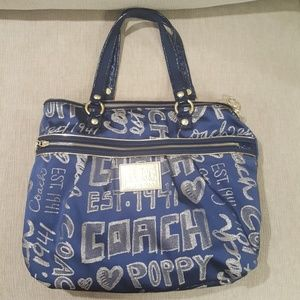 Awesome blue and gold coach bag.